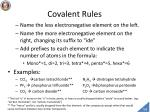 covalent rules