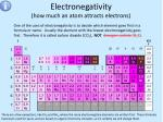 electronegativity how much an atom attracts electrons