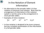 in line notation of element information