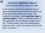 overview significant figures knowing how much to round an answer