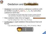 oxidation and combustion
