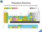 polyvalent elements the elements with flashing circles have more than one positive valence