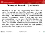 choices of thermal continued2