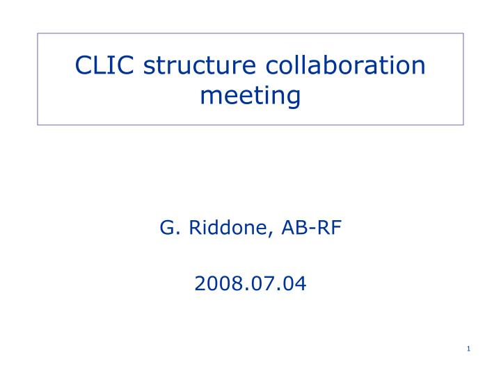 clic structure collaboration meeting n.