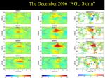 the december 2006 agu storm