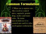 common formulation