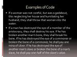 examples of code1