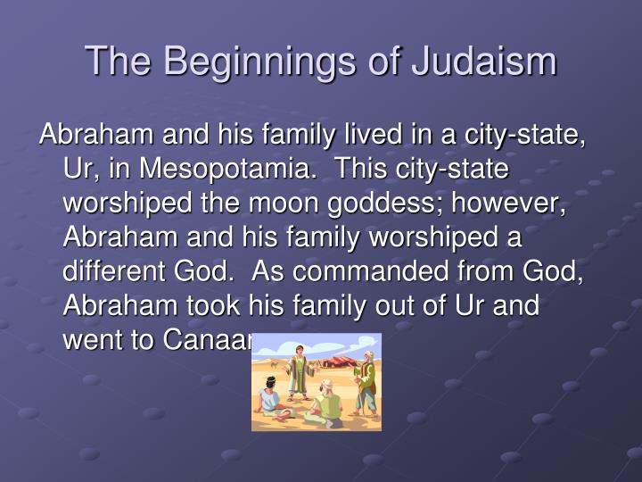 The Beginnings of Judaism