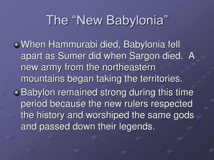 "The ""New Babylonia"""