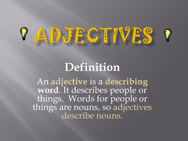 adjectives n.