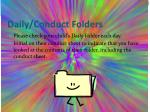 daily conduct folders
