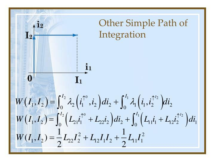 Other Simple Path of Integration