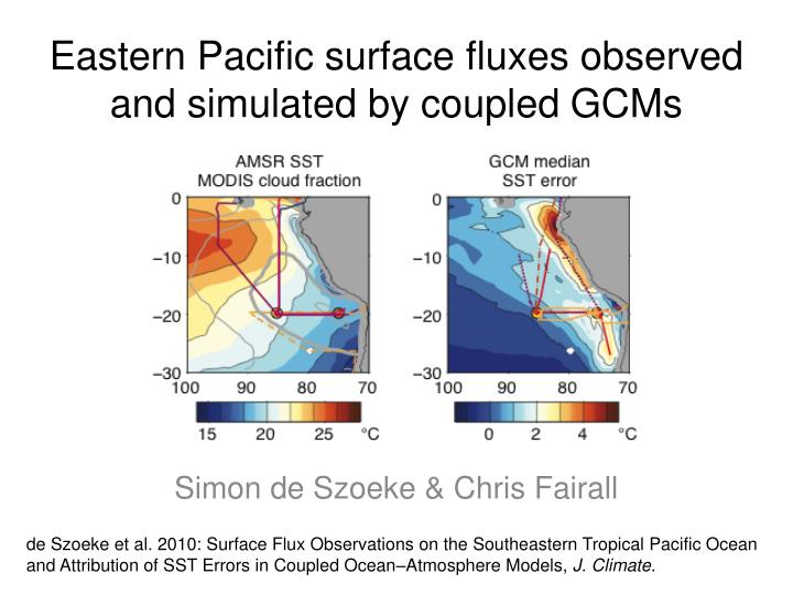 eastern pacific surface fluxes observed and simulated by coupled gcms n.