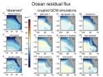 ocean residual flux