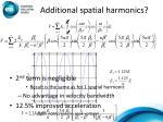 additional spatial harmonics