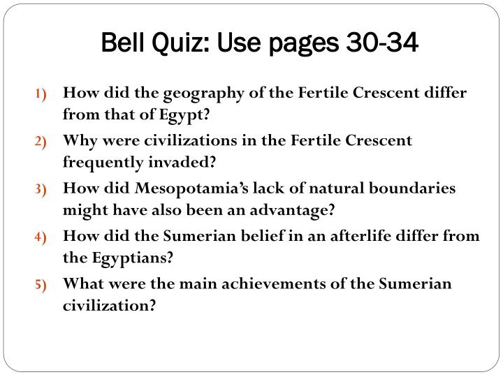 bell quiz use pages 30 34 n.