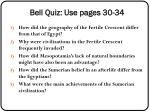 bell quiz use pages 30 34