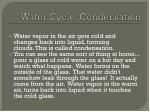 water cycle condensation