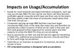 impacts on usage accumulation