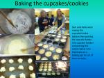 baking the cupcakes cookies