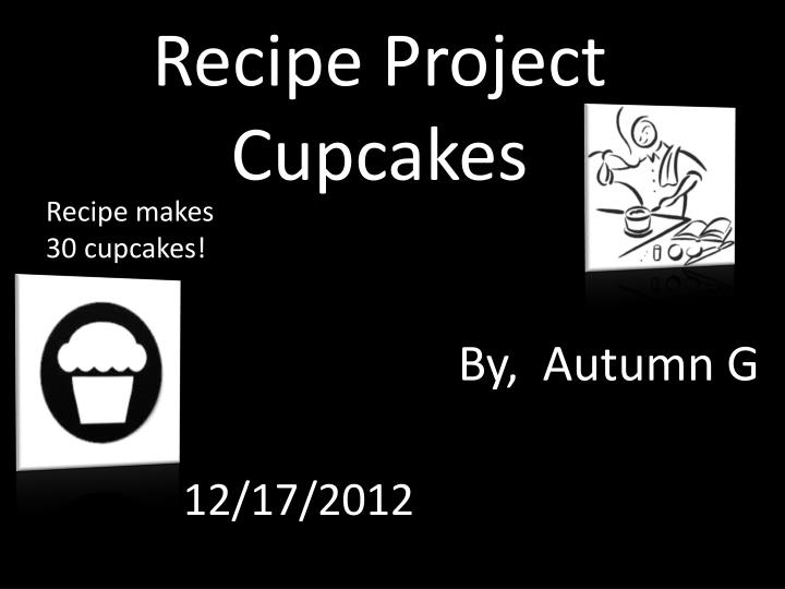 recipe project cupcakes n.