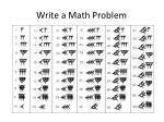 write a math problem1