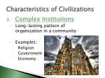 characteristics of civilizations2