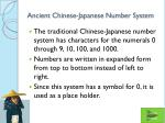 ancient chinese japanese number system
