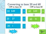 converting to base 20 and 60