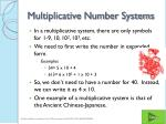 multiplicative number systems