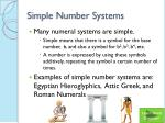 simple number systems