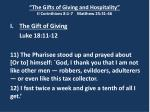 the gifts of giving and hospitality ii corinthians 8 1 7 matthew 25 31 466