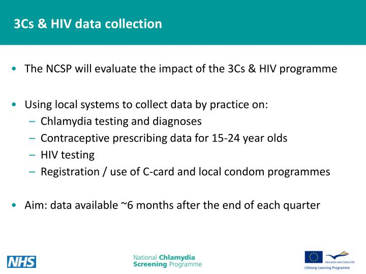 3Cs & HIV data collection