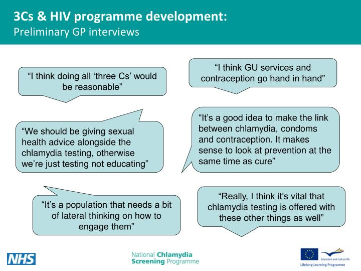 3Cs & HIV programme development: