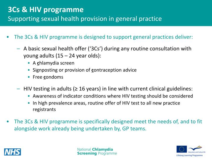 3cs hiv programme supporting sexual health provision in general practice
