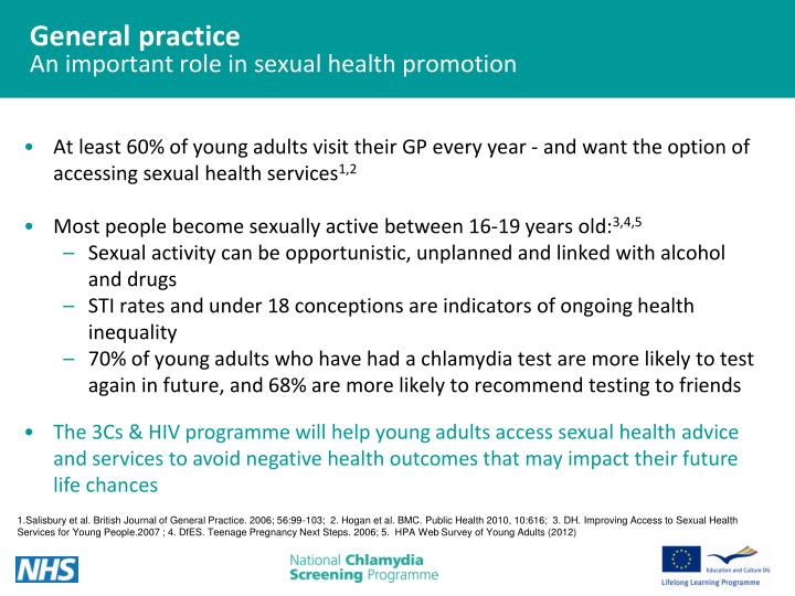 General practice an important role in sexual health promotion