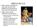 aids in the u s