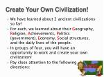create your own civilization