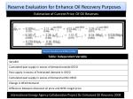 reserve evaluation for enhance oil recovery purposes12