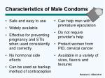 characteristics of male condoms