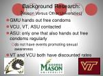 background research mason versus other universities