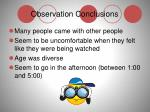 observation conclusions