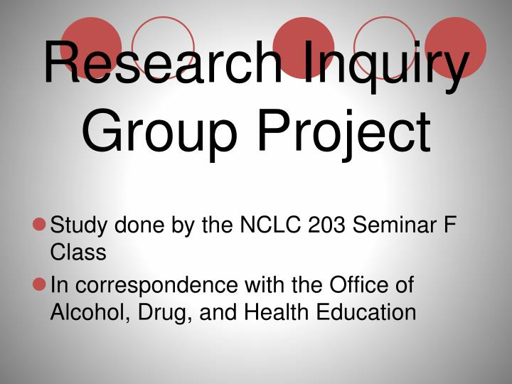 research inquiry group project n.