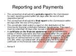 reporting and payments