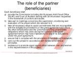 the role of the partner beneficiaries2
