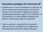 evaluation paradigms for interactive ir