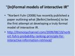 in formal models of interactive ir