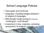 school language p olicies