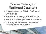 teacher training for multilingual classroom