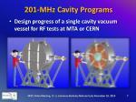 201 mhz cavity programs3